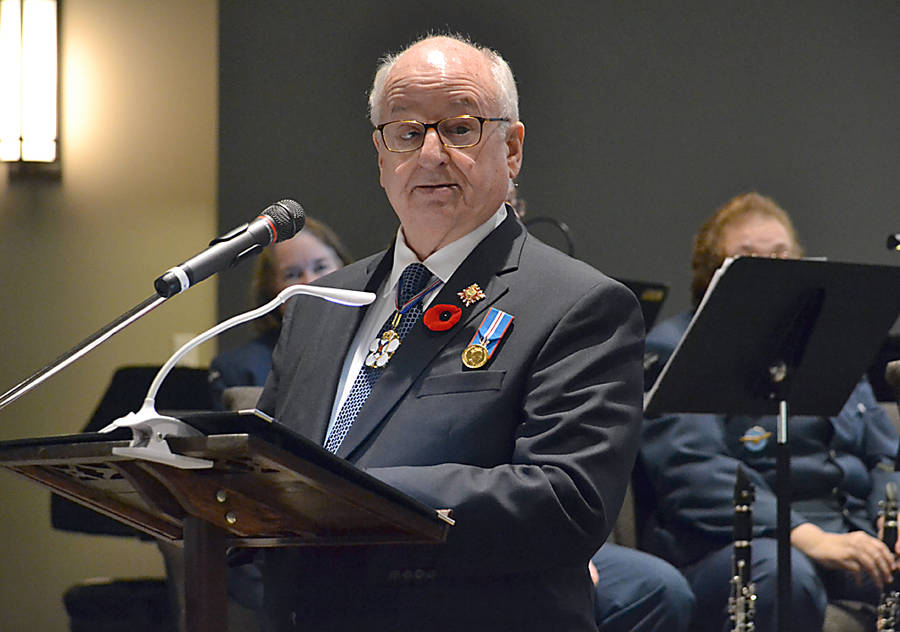 <p>GAYLE WILSON PHOTO</p><p>The Honourable Arthur LeBlanc, Nova Scotia&#8217;s lieutenant governor, was among the dignitaries attending the Armistice Concert.</p>
