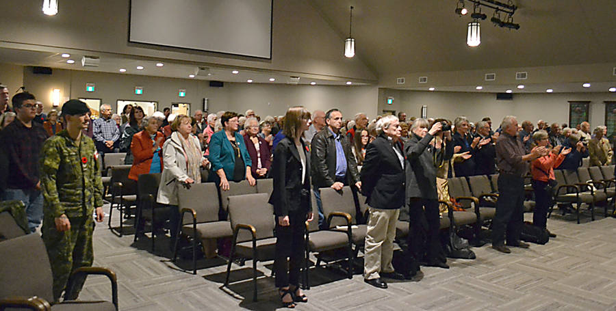 <p>GAYLE WILSON PHOTO</p><p>Approximately 200 people, including provincial and local dignitaries, attended the Armistice Concert at the Bridgewater Baptist Church November 4.</p>