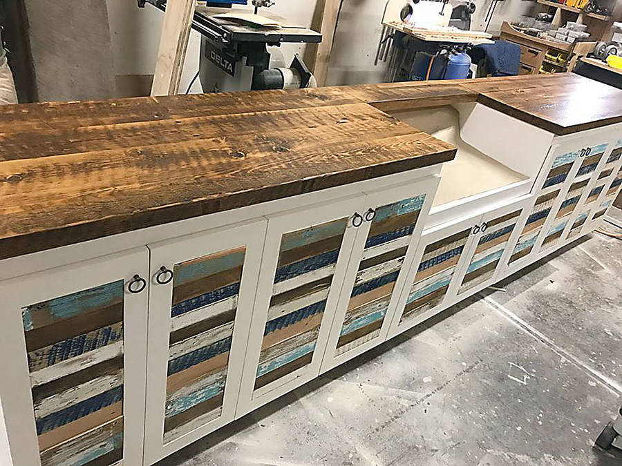 <p>FACEBOOK PHOTOS</p><p>One of the kitchen cabinets created by Going Coastal.</p>