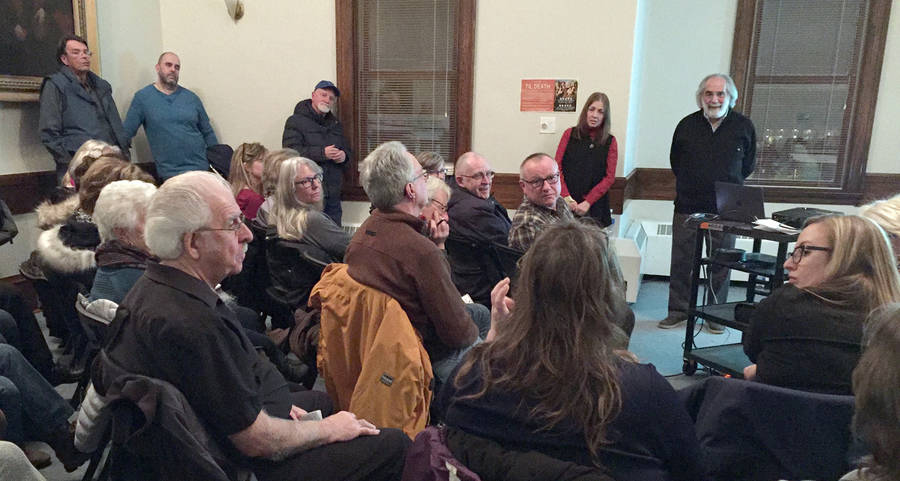 <p>KEITH CORCORAN, PHOTO</p><p>A February 1 meeting in Liverpool hears about, and from, The Whale Sanctuary Project.</p>