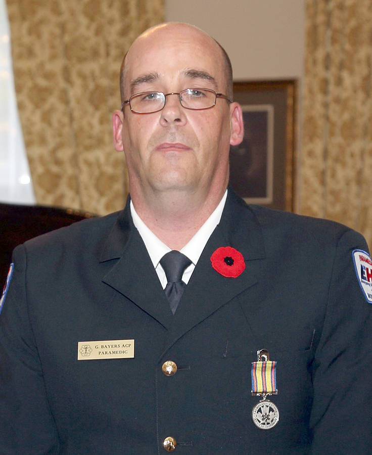 <p>FILE PHOTO</p><p>Greg Bayers of Dayspring, pictured in 2014, received another exemplary service honour.</p>