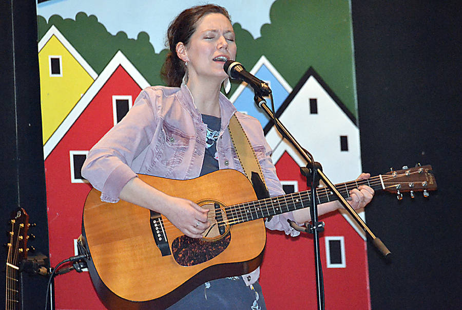 <p>GAYLE WILSON PHOTO</p><p>Catherine MacLellan, daughter of the late Gene MacLellan, performed at the Folk Fiesta. She will also be appearing at the Chester Playhouse Theatre April 5 for her show, <em>If It&#8217;s Alright With You &#8211; The Life and Music Of My Father, Gene MacLellan</em>.</p>