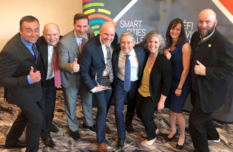 <p>INFRASTRUCTURE CANADA/TWITTER</p><p>Bridgewater officials celebrate the Smart Cities win Tuesday.</p>