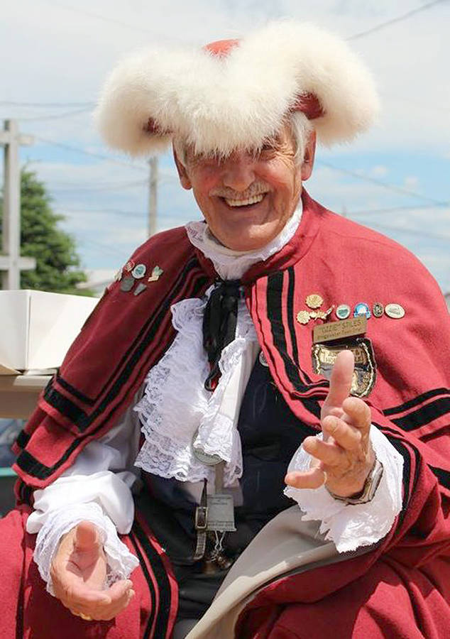 <p>FACEBOOK/OZZIE STILES</p><p>Bridgewater town crier Austin &#8220;Ozzie&#8221; Stiles retires after 40 years of boisterous bell-ringing proclamations and announcements at community events and functions.</p>