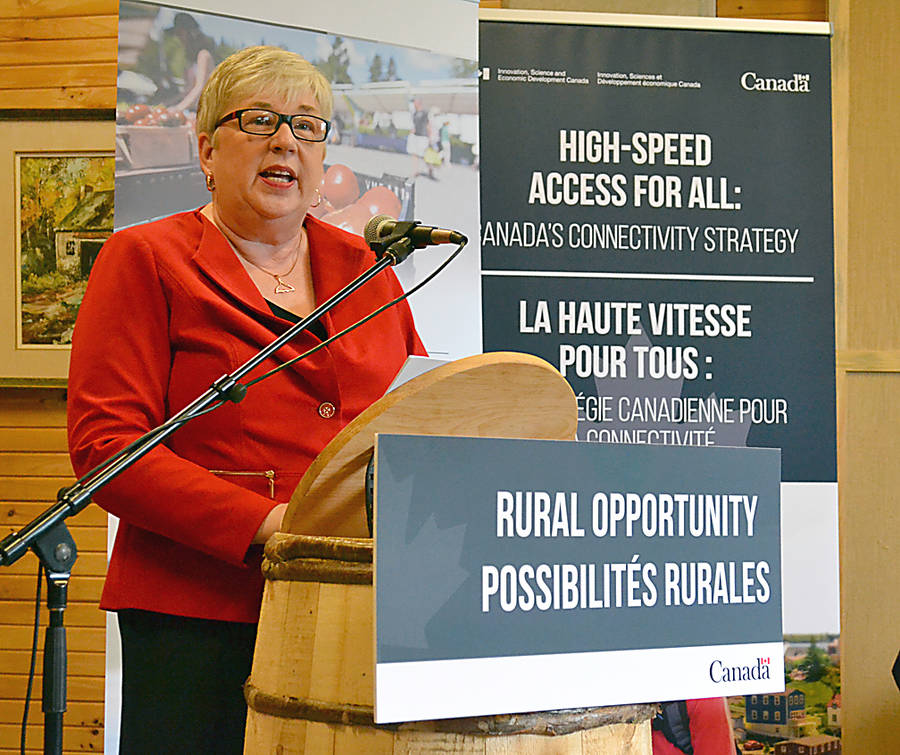 <p>GAYLE WILSON PHOTO</p><p>Bernadette Jordan, MP for South Shore-St. Margaret&#8217;s and the federal Minister for Rural Economic Development announced two national strategies at Ross Farm Museum on June 27.</p>