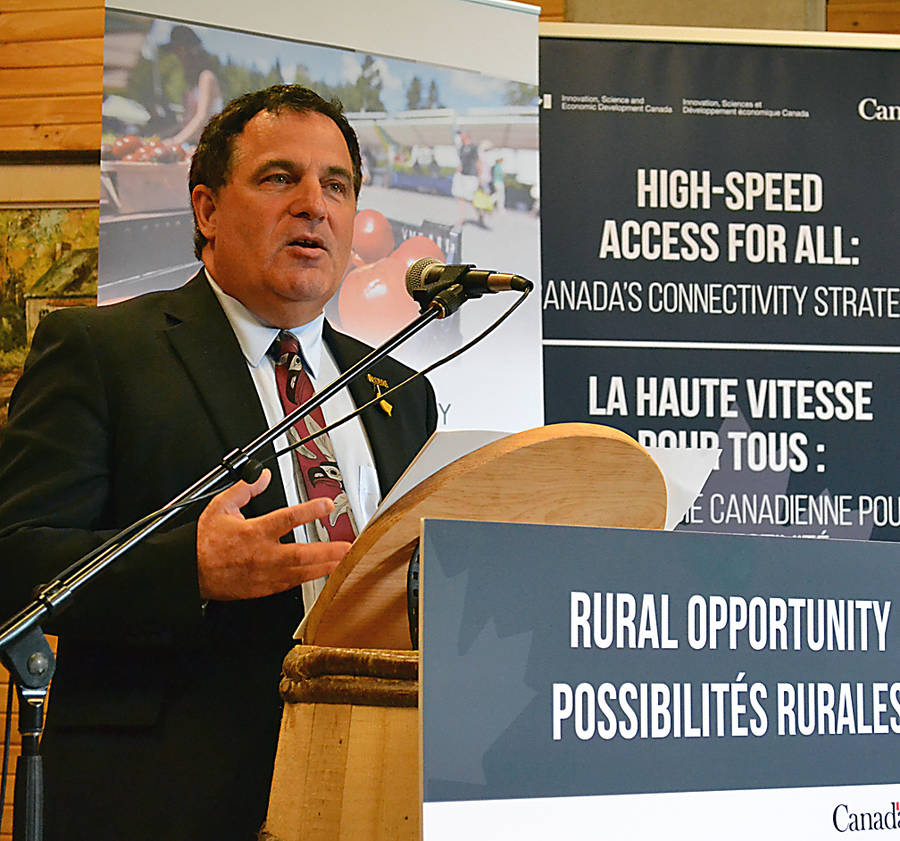 <p>GAYLE WILSON PHOTO</p><p>Marc Serr&#233;, parliamentary secretary to Rural Economic Development Minister Bernadette Jordan, delivered the version of her speech at the event.</p>