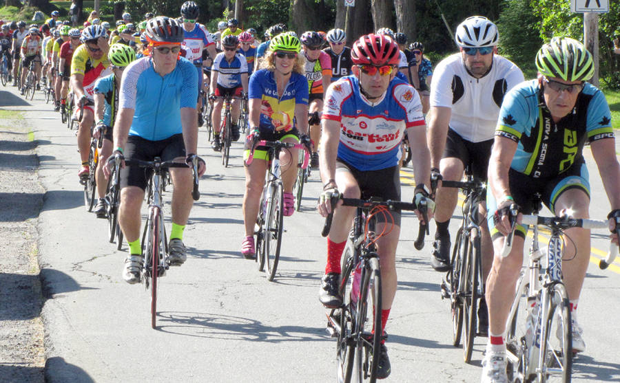 <p>KEITH CORCORAN, PHOTO</p><p>The Hearland Tour zips along King Street in Bridgewater on July 11.</p>