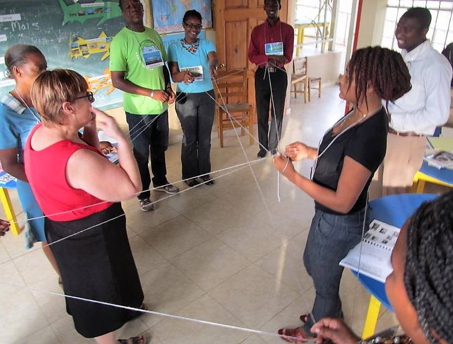 <p>CONTRIBUTED PHOTO</p><p>Karen MacKenzie-Stepner of Chester, leading a session in Guatemala.</p>