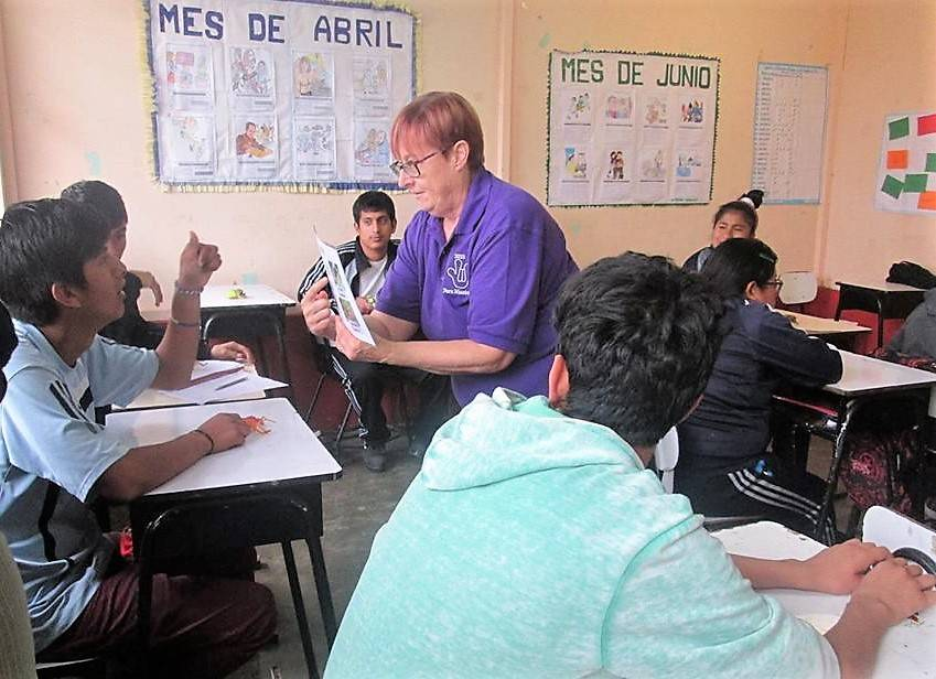 <p>CONTRIBUTED PHOTO</p><p>Chester&#8217;s Karen MacKenzie-Stepner of Chester working with a deaf student in Peru.</p>