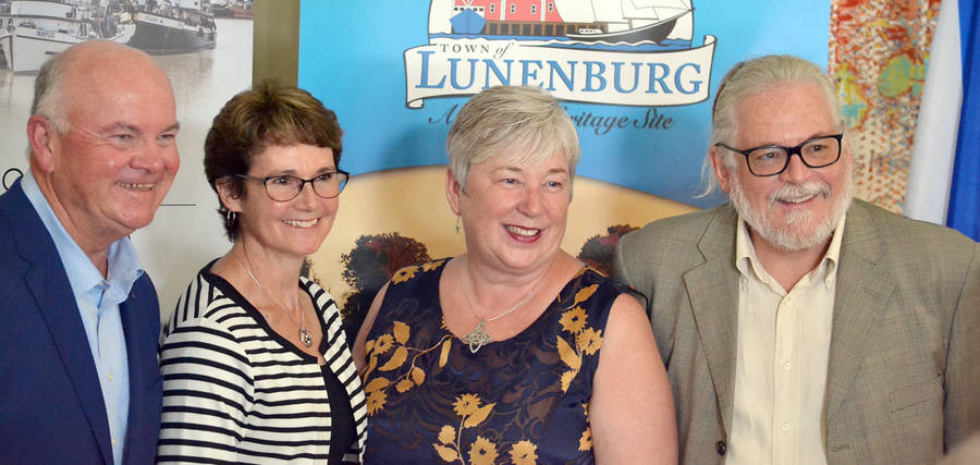 <p>KEITH CORCORAN, PHOTO</p><p>From left, Tom Hayes of the Lunenburg Academy Foundation, Lunenburg Mayor Rachel Bailey, local MP Bernadette Jordan, and Burt Wathen of the Lunenburg Academy of Musical Performance.</p>