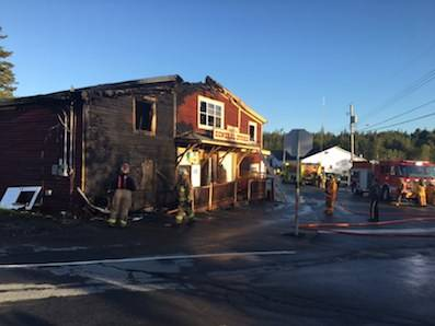 <p>Peter Josephson, photo</p><p>The Petite Riviere General Store caught fire, September 9.</p>