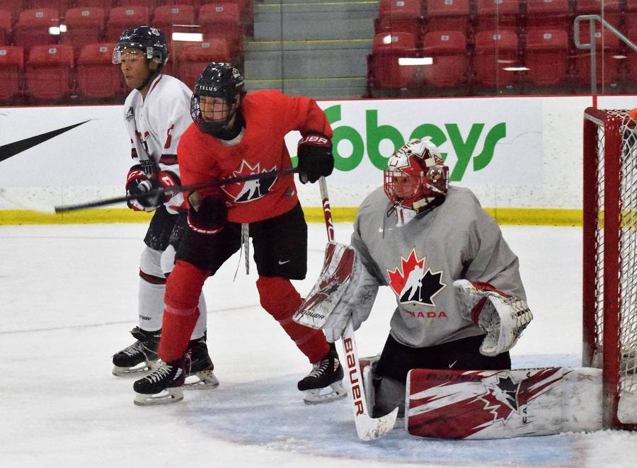 <p>KEVIN MCBAIN PHOTO</p><p>The Valley Jr. A Wildcats took on the BFL National women&#8217;s team.</p>