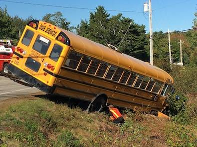 <p>Keith Corcoran, photo</p><p>Emergency crews attend to an accident involving a school bus.</p>