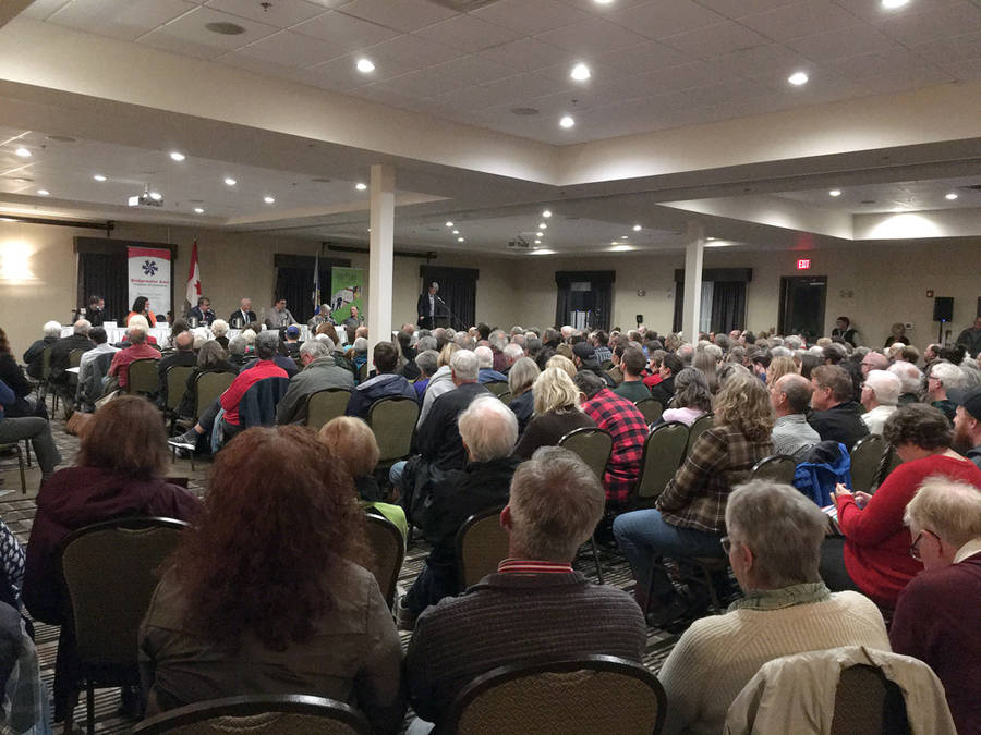 <p>KEITH CORCORAN, PHOTO</p><p>A full conference room in Cookville hears from some of the federal candidates on October 2.</p>