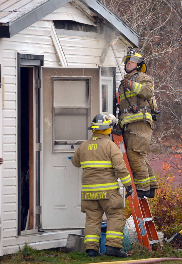 <p>KEITH CORCORAN, PHOTO</p><p>Fire crews deal with an incident in Hebbville on November 8.</p>
