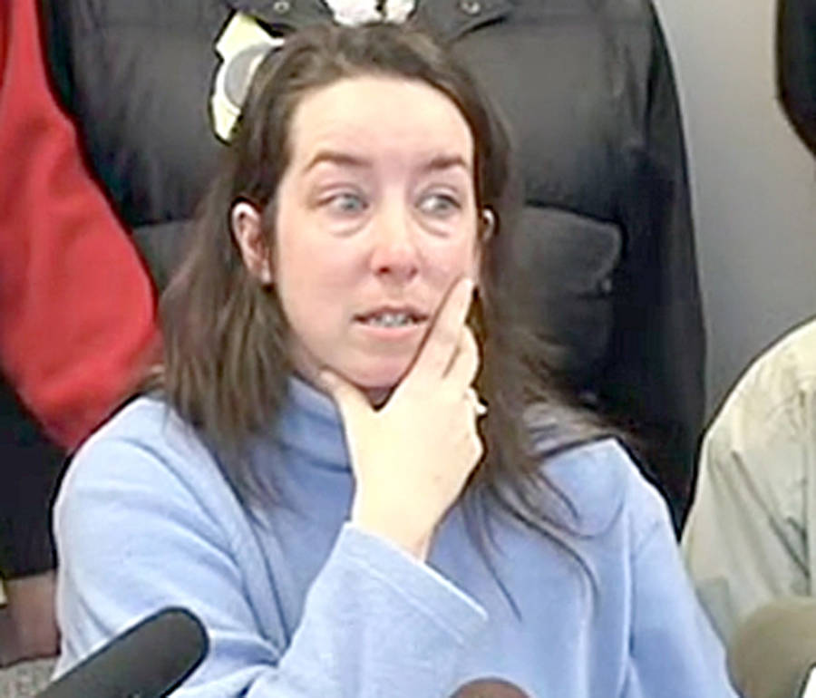 <p>Screengrab from 2008 news conference where Penny Boudreau put out a public plea to help find her missing daughter.</p>
