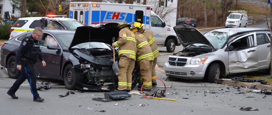 <p>KEITH CORCORAN, PHOTO</p><p>First responders work the scene of a November 25 crash in Bridgewater.</p>
