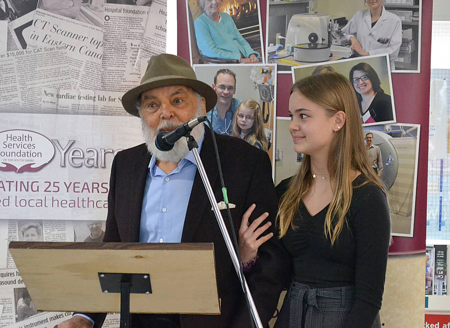 <p>FILE PHOTO</p><p>Stephen Sander was a school teacher in Bridgewater who went on to become a property mogul in British Columbia. He returned with family members, including his granddaughter Lexy Bannister, to officially open the new minimally invasive surgery suite he helped pay for for the South Shore Regional Hospital.</p>