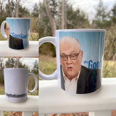 <p>FACEBOOK/SEW ALICIA</p><p>The Dr. Robert Strang mug created by Alicia Boutilier.</p>
