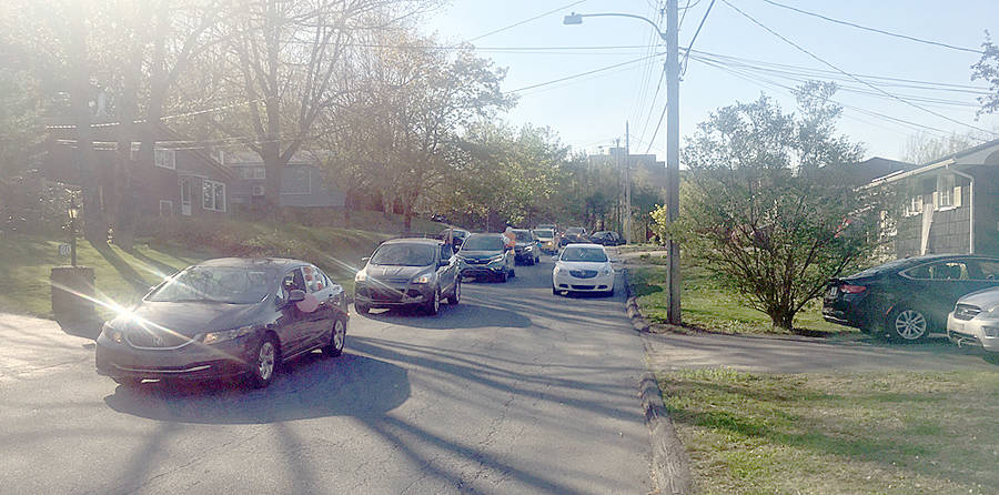 <p>CONTRIBUTED PHOTO</p><p>Approximately 25 vehicles paraded down a Bridgewater residential street to help celebrate the 31st birthday of physical fitness trainer Samantha Green.</p>