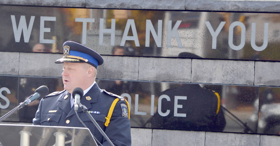 <p>FILE PHOTO</p><p>Bridgewater Police Service Chief, Scott Feener.</p>
