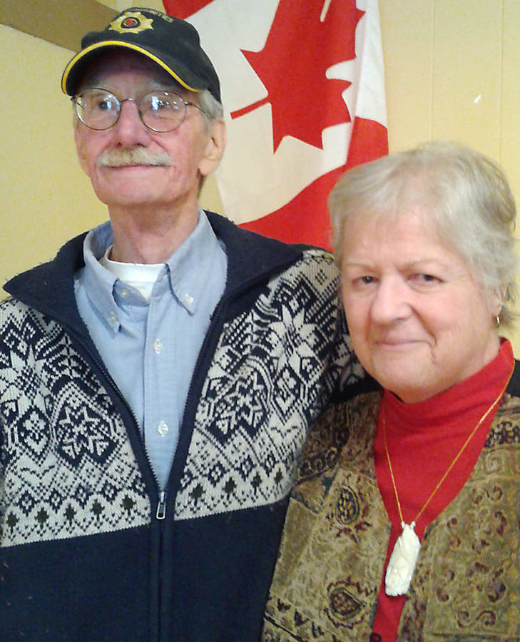 <p>FILE PHOTO</p><p>David and Kat Wright at a community meeting discussing their immigration case at the Voglers Cove Community Hall in April, 2017.</p>