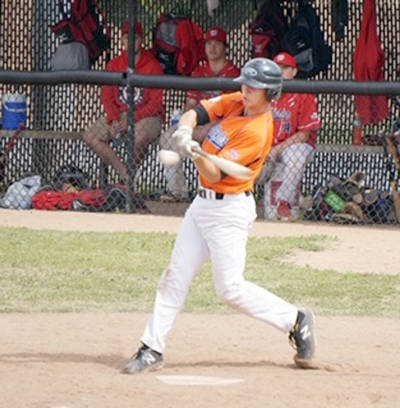 <p>SUBMITTED PHOTO</p><p>Brandon Wentzell of Bridgewater takes a cut during play in 2019.</p>