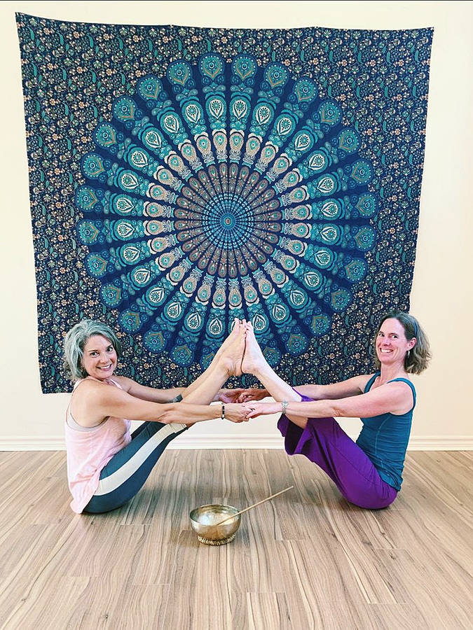<p>CONTRIBUTED PHOTO</p><p>Alexandra Nedergaard (left) and Tracy Murdoch are stretching the number of services on offer in Blockhouse by establishing a new yoga and wellness studio on Highway 325.</p>