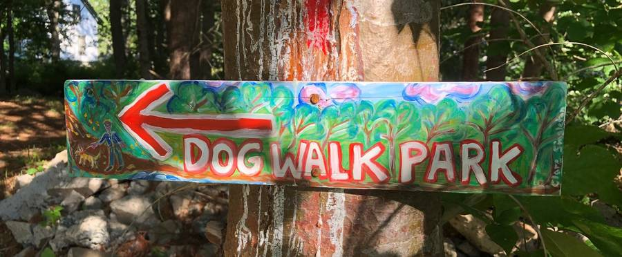 <p>FACEBOOK PHOTO</p><p>Along with the dog park, volunteers made a trail through the woods that people can enjoy.</p>