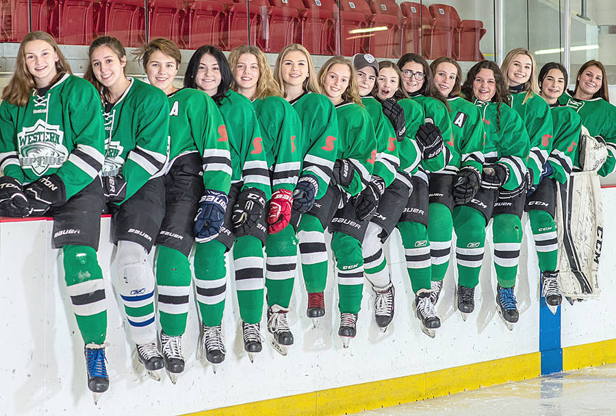 <p>KEN CHETWYND, PHOTO</p><p>Western Riptide Female Hockey U18 team who posed for a shot in Liverpool last season. The team comprised players from Chester to Yarmouth. This season there will be a U18 team based out of Chester/Lunenburg and out of Yarmouth.</p>