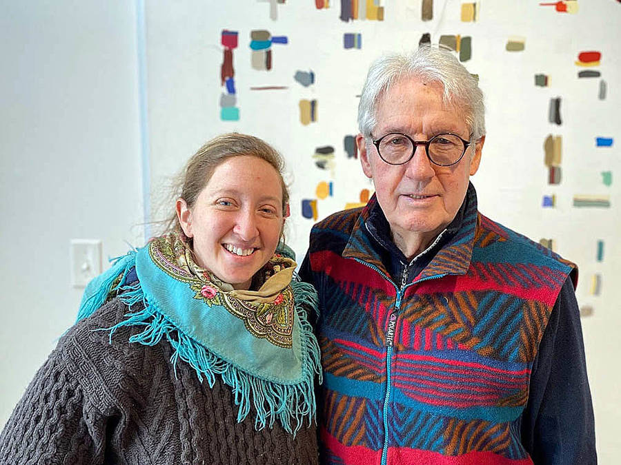 <p>CONTRIBUTED PHOTO</p><p>Inbal Newman and the Honourable Wilfred P. Moore, Q.C., LL.D., who is the volunteer chair of the Lunenburg School of the Arts.</p>