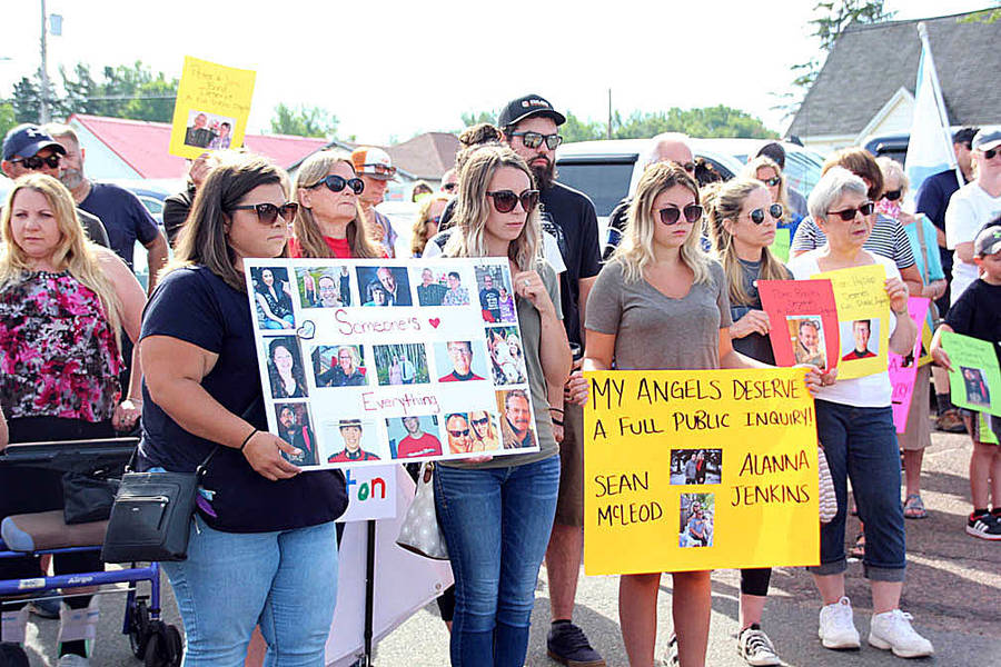 <p>RAISSA TETANISH, PHOTO</p><p>Hundreds of people attended a march in July 2020 to put pressure on the provincial and federal governments to launch a public inquiry into the mass shooting. At that point, the governments had announced an independent review, however they changed course days after the march.</p>