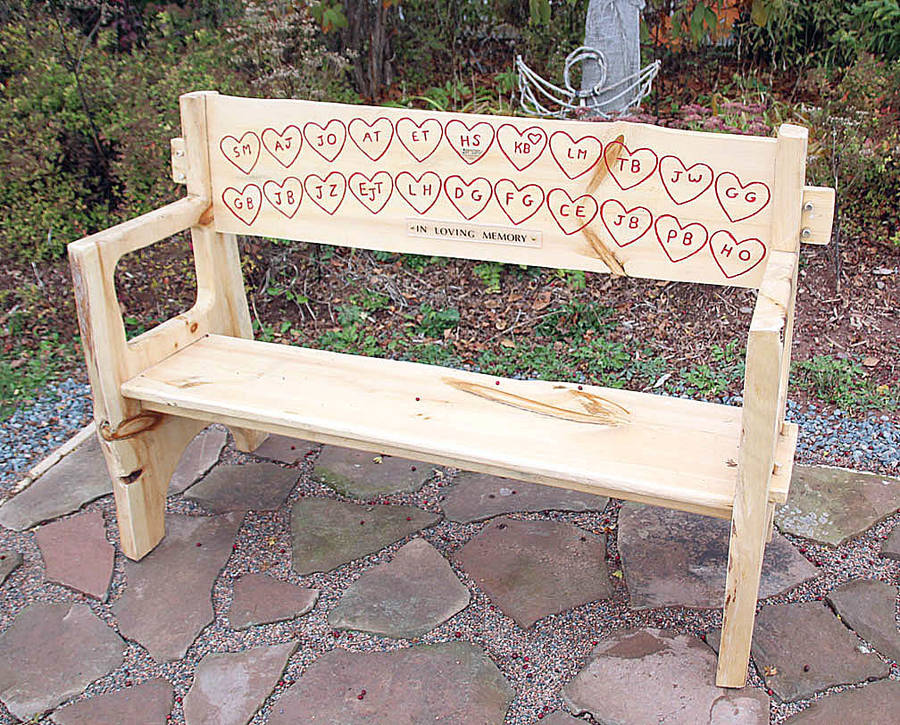 <p>RAISSA TETANISH, PHOTO</p><p>The Wentworth Recreation Centre has installed a wooden bench with the initials of the lives lost in the mass shooting on April 18 and 19, 2020. Four of the victims were in the Wentworth area.</p>