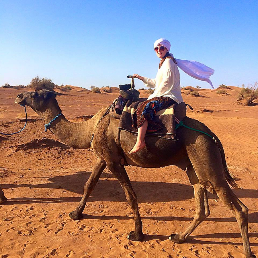 <p>CONTRIBUTED PHOTO</p><p>One of Mary Olivella's favourite memories is riding a camel through the Sahara Desert.</p>