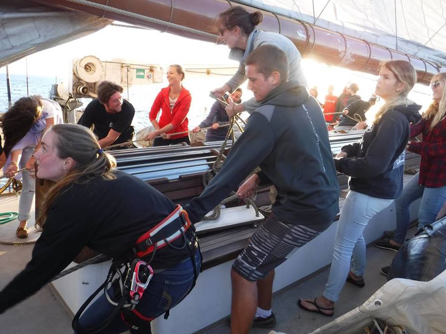 <p>CONTRIBUTED PHOTO</p><p>Olivella said she and many other students had been on sailboats before, but sailing a tall ship was a whole new experience.</p>