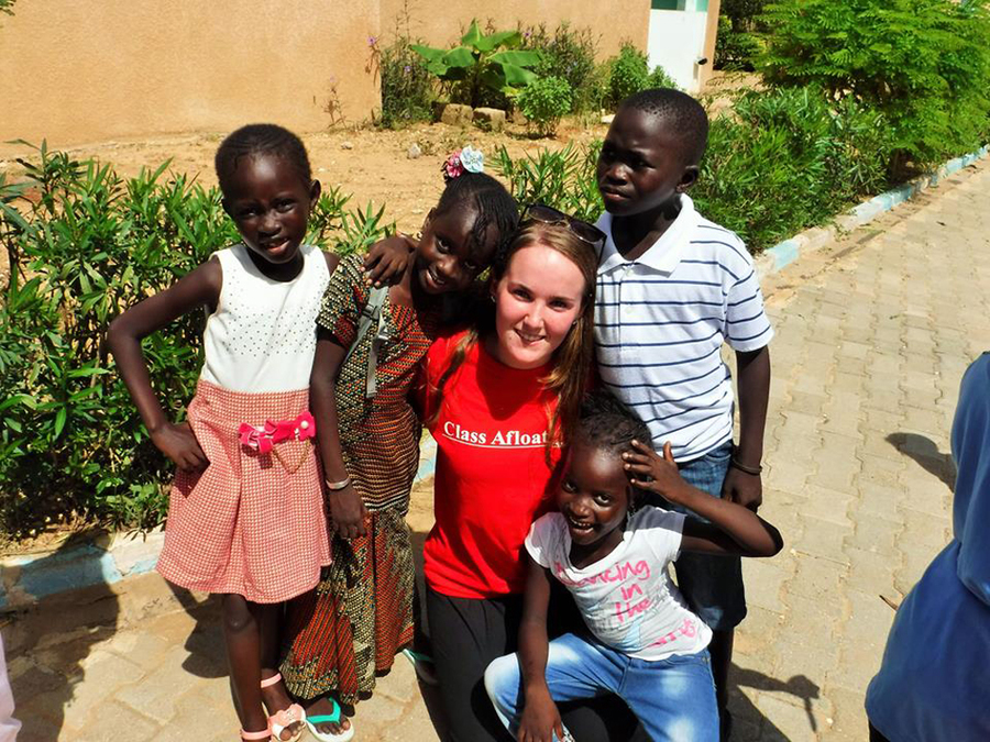 <p>CONTRIBUTED PHOTO</p><p>The class got to know local families during a house stay in Senegal.</p>