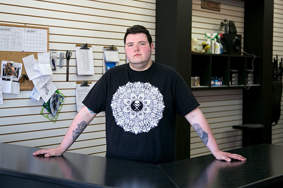 <p>Rennick Clattenburg is a 19 year-old tattoo artist from Camperdown. Clattenburg's work and his youth is getting attention at his workplace Artistic Issues in Bridgewater.</p><p>BRITTANY WENTZELL PHOTO</p>