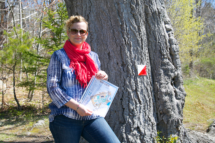 <p>BRITTANY WENTZELL PHOTO</p><p>Kara Turner, a member of the town&#8217;s home and school committee and an orienteering enthusiast, helped organize an orientering event at Bayview Community School and a now permanent orienteering trail around the elementary school.</p>