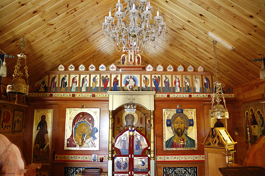 <p>BRITTANY WENTZELL PHOTO</p><p>Icons on the walls are done in a traditional way that generally conforms to all other icons within the Russian Orthodox Church.</p>