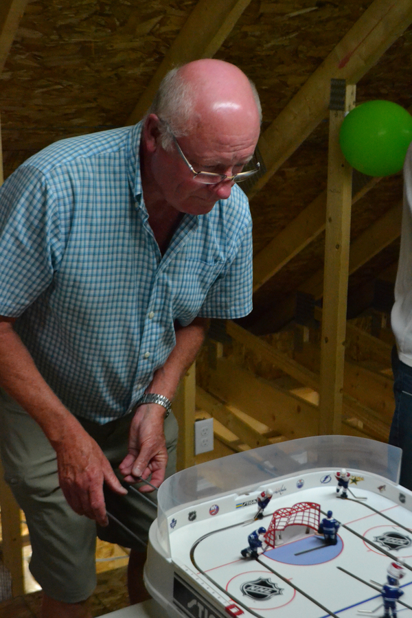 <p>EVAN BOWER PHOTO</p><p>Doug Tanner steps up for his first game of the second Lunenburg Tabletop Hockey League season.</p>