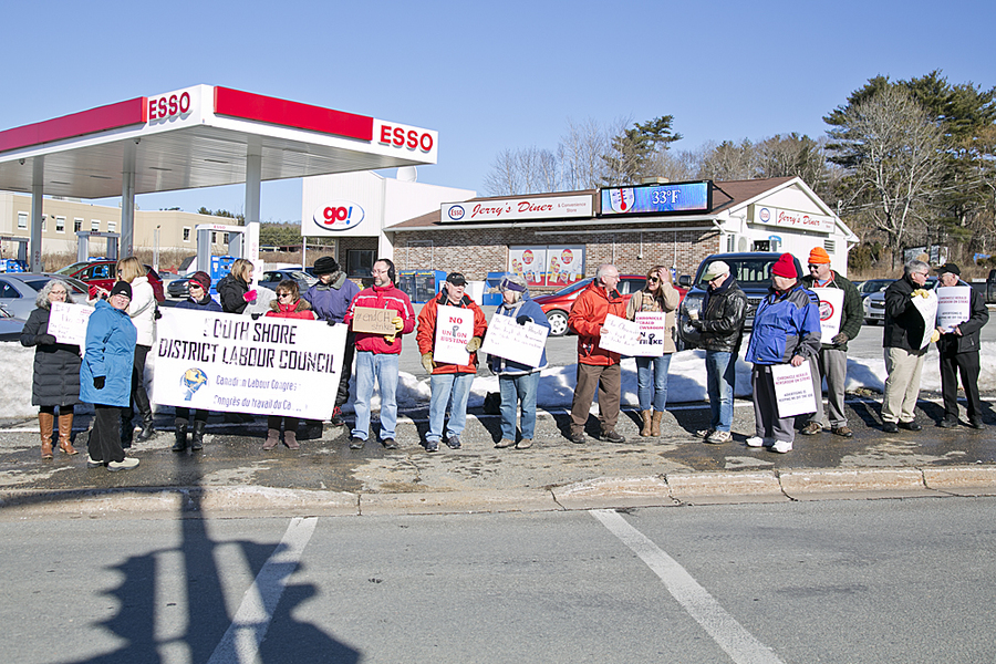 <p>BRITTANY WENTZELL PHOTO</p><p>Around 20 locals showed up for a rally in support of the Halifax Typographical Union which represents workers at the Chronicle Herald.</p>