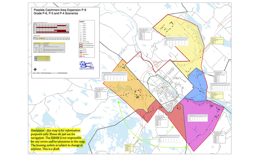 "<p>FILE PHOTO</p><p>Often referred to as the ""lobster map,"" the highlighted portions indicate which areas could have students move into Bridgewater.</p>"