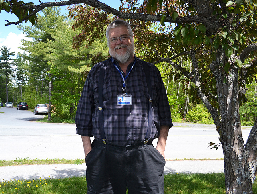 <p>FILE PHOTO</p><p>Dr. David Abriel, a palliative care physician living in Mahone Bay, pictured last summer when he spoke to LighthouseNOW about the federal government's assisted dying legislation.</p>