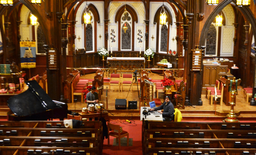 <p>EVAN BOWER PHOTO</p><p>St. John's Anglican Church in Lunenburg has become the home of the duo's improvised experiments.</p><p>Inset photo: Eighteen-year-old Afraaz Mulji has been travelling the world playing music for the last five years.</p>