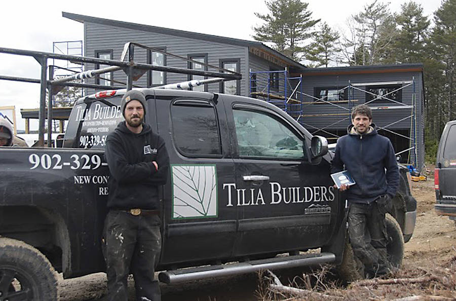 <p>CONTRIBUTED PHOTO</p><p>Tilia Builders owners Michael Mandale and Liam Finney on a job site at the Skipper Hill residential development in Chester Basin.</p>
