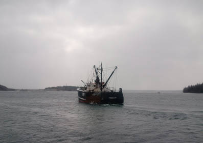 <p>CONTRIBUTED PHOTO</p><p>Chockle Cap sets out from Lunenburg harbour for the last time on March 12.</p>