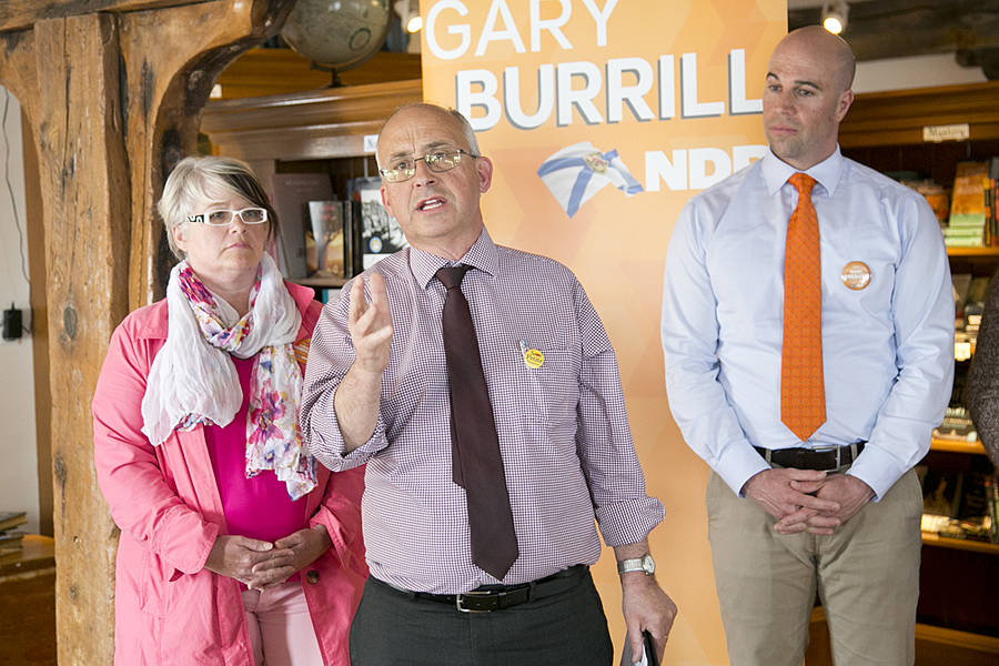 <p>BRITTANY WENTZELL PHOTO</p><p>Gary Burrill, leader of the Nova Scotia New Democratic Party, announced on May 11 that the party would put a moratorium on school closures until school closure guidelines can be reviewed, should they be voted in on May 30.</p>
