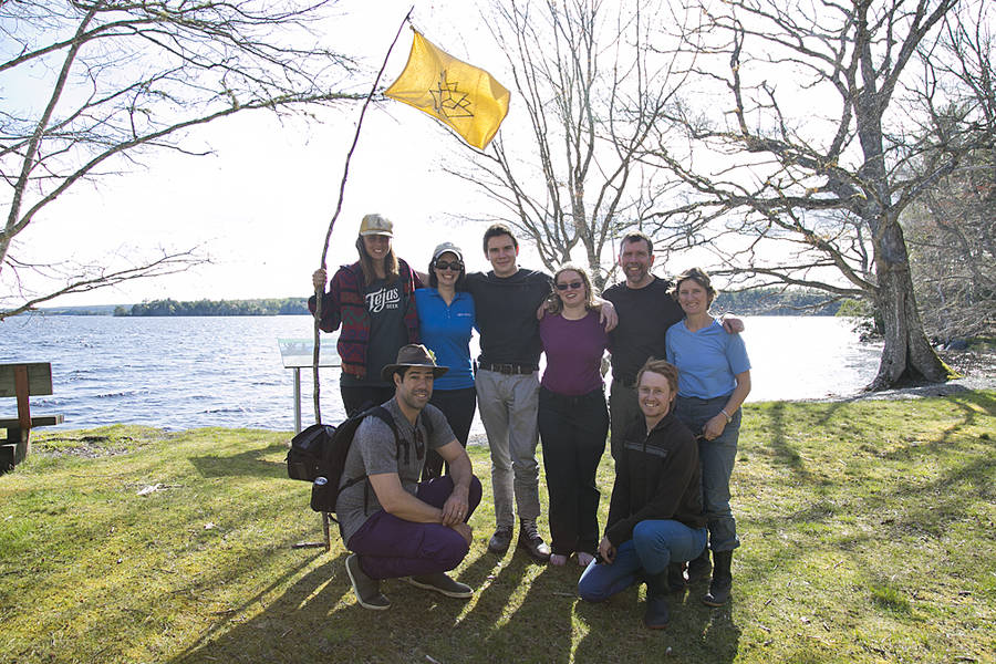 <p>BRITTANY WENTZELL PHOTO</p><p>Leif Helmer, Angharad Wylie, Amy Buckland-Nicks, Tague Foxton, Ellen Macnearney, Colin Gray, Kathleen Macnearney, and Tristan Glen, paddled the Shelburne River as a part of a celebration of Canada's Heritage Rivers.</p>