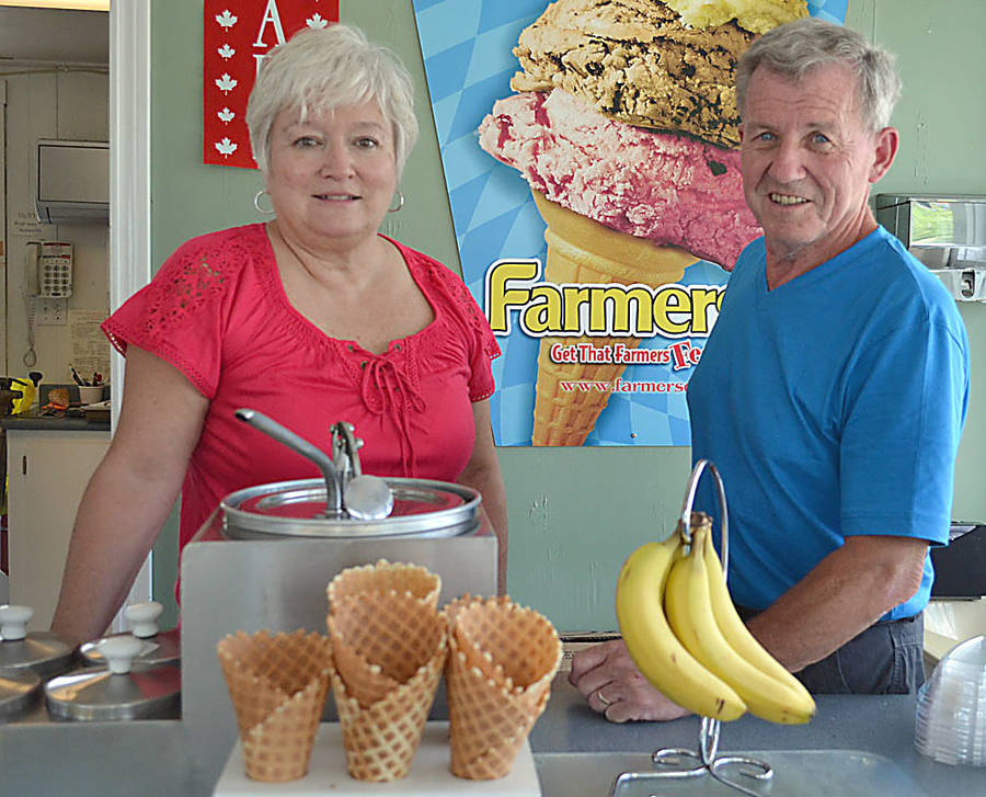 <p>GAYLE WILSON PHOTO</p><p>JoAnne and Doug Corkum, current owners of Hebbville Tastee Freez. Doug's father Roy established the take-away ice-cream and burger business on a vacant lot in the village in 1967.</p>