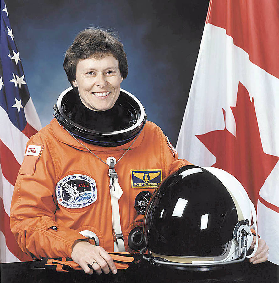 <p>CONTRIBUTED PHOTO </p><p>Dr. Roberta Bondar became a Canadian icon as Canada's first woman astronaut and the first neurologist in space. She launched from Earth in January 1992 aboard NASA's space shuttle Discovery.</p>